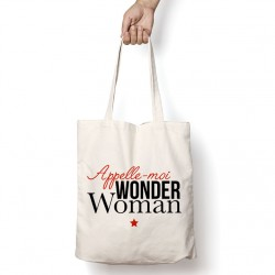 Tote Bag Appelle moi wonder woman
