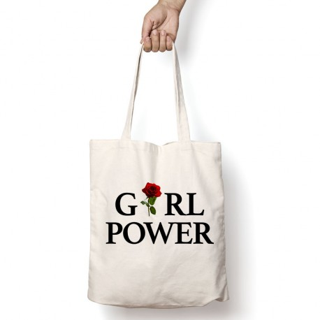 Tote Bag Girl Power Rose Rouge
