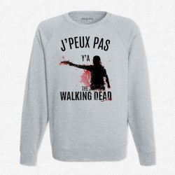 Sweat Gris J'peux pas y'a The Walking Dead