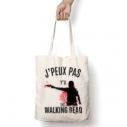 Tote Bag J'peux pas y'a The Walking Dead