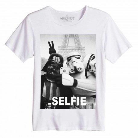t shirt coton bio selfie no comment paris homme. Black Bedroom Furniture Sets. Home Design Ideas