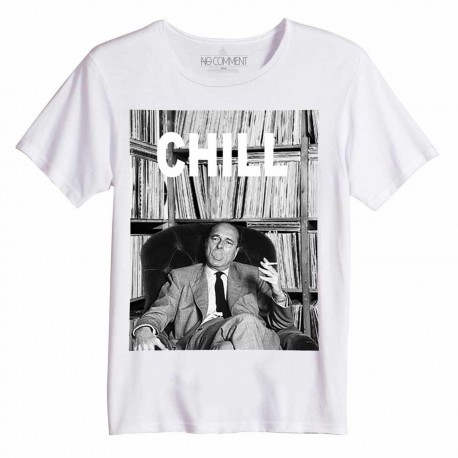 t shirt coton bio chirac chill no comment paris homme. Black Bedroom Furniture Sets. Home Design Ideas