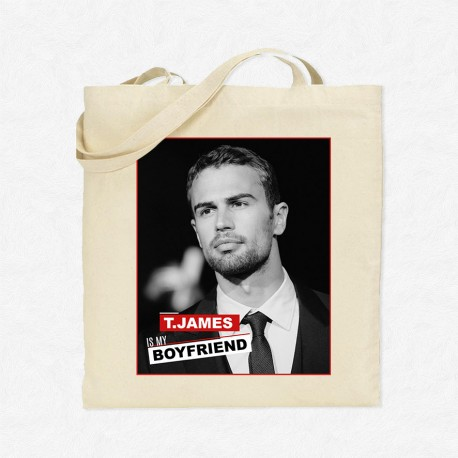 Tote Bag Theo James is my boyfriend