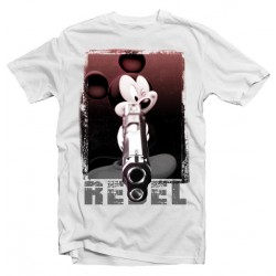 T-Shirt Mickey Rebel Gun  - Homme blanc