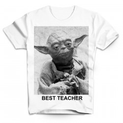 T-Shirt yoda best teacher Star wars - Homme blanc