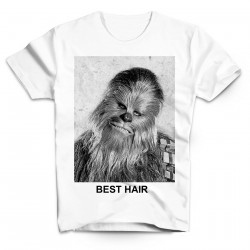 T-Shirt Chewbacca Best Hair Star wars - Homme blanc
