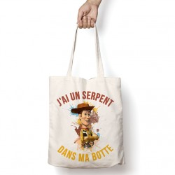 Tote Bag Disney/Pixar- J'ai un serpent dans ma botte
