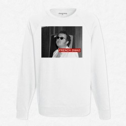 Sweat Blanc Coluche - French Swag