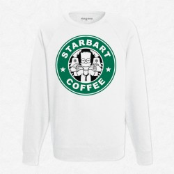 Sweat Blanc StarCoffee - Bart Simpson