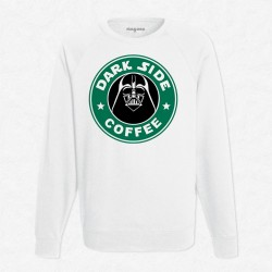 Sweat Blanc StarCoffee - Dark Vador