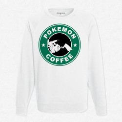 Sweat Blanc StarCoffee - Pokemon