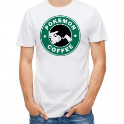 T-Shirt Homme blanc StarCoffee - Pokemon