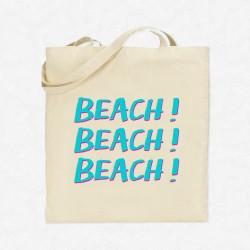 Tote Bag Vacances Beach !