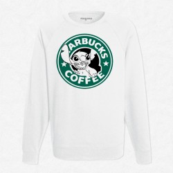 Sweat Blanc StarCoffee - Stitch