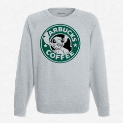Sweat Gris StarCoffee - Stitch