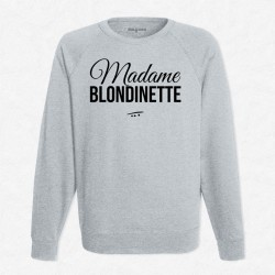 Sweat Gris Madame blondinette