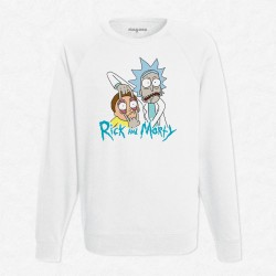 Sweat Blanc Rick and Morty