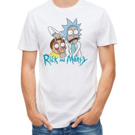 T-Shirt Homme blanc Rick and Morty