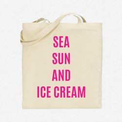 Tote Bag Vacances Sea, sex and ice cream