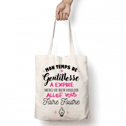 Tote Bag Temps de gentillesse