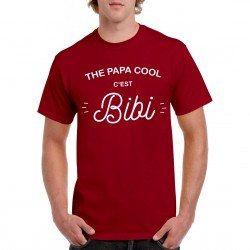 T-Shirt The papa cool c'est Bibi