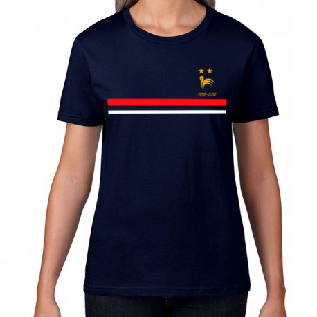new styles timeless design big discount T-Shirt girl France 2 étoiles Mondial foot 1998 - 2018 non officiel -  mayooo | T-shirts et accesoires cool pour gens cool